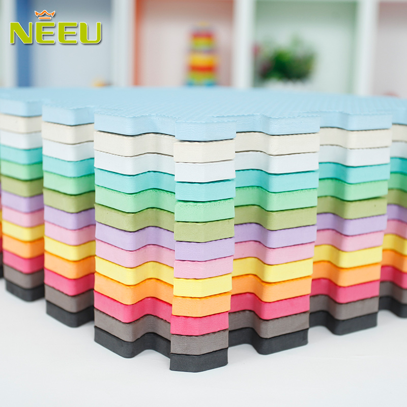 9pcs/lot Baby Play Mat Plain Color Puzzle Mats EVA Foam Mat Kids Jigsaw Mats 30X30X1cm For Bedroom Protective Floor Tiles Mat