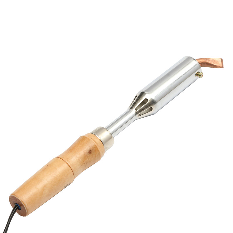 High Quality AC 220V 200W Electric Solder Soldering Iron Heavy Duty Chisel Point Tip Wood Handle Repair Tool