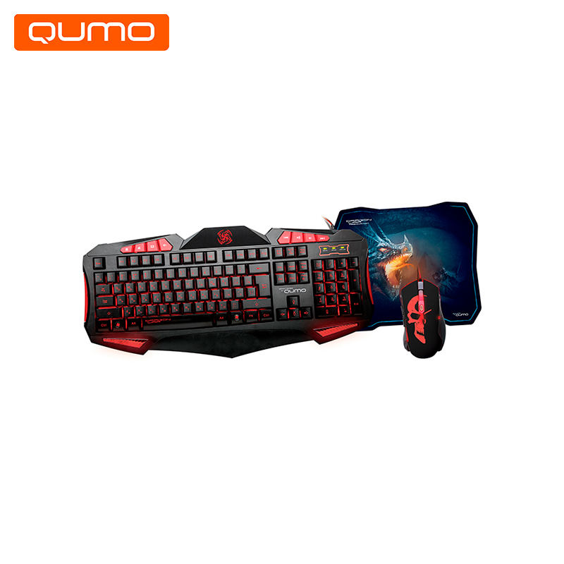 Gaming set Keyboard and Mouse Qumo Axe Strike tannoy reveal 402