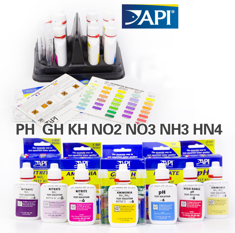 API Reef Test Kit Fresh Water Test Kit for Ca calcium Cu I2 KH Mg NH4 Ammonia NO2 Nitrit ...