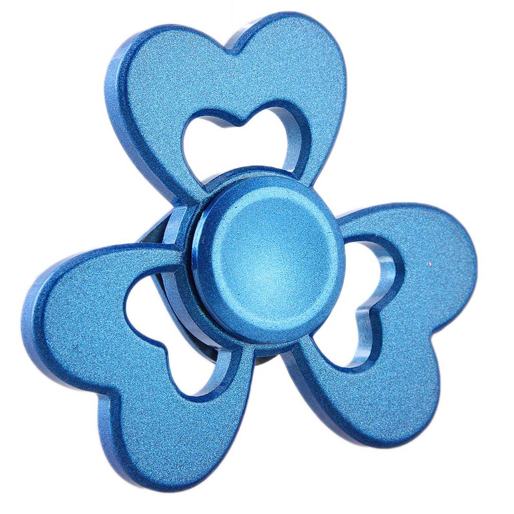 New finger Spinner Metal Hand Flower Spinner Stress Wheel Cube Fidget Toys Adults Children Gifts Heart Shaped Finger Spiner