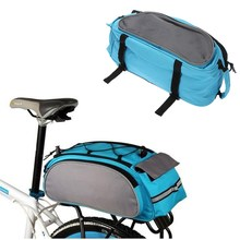 Cycling Bike Bag Pannier Bicycle Package Rear Seat Tail 600D Polyester Double Sides Rear Rack Storage Trunk Handbag Travel