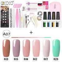 Newest venalisa brand nail art DIY design 5ml*12 pcs nail gel polish lacquer gel start learner diy kit