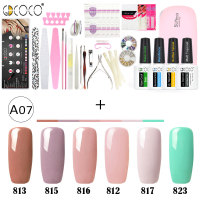 Newest venalisa brand nail art DIY design 5ml*12 pcs nail gel polish lacquer gel start learner diy kit