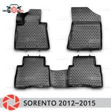 Коврики для Kia Sorento 2012 ~ 2015 rugs Нескользящие полиуретан грязи защиты внутренних Тюнинг автомобилей аксессуары