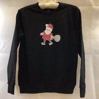 Kerst tshirt 3-7Y Leuke Kerstman Patroon sweatshirt Kids Baby Jongens Katoenen meisjes shirt GW172 kan customised