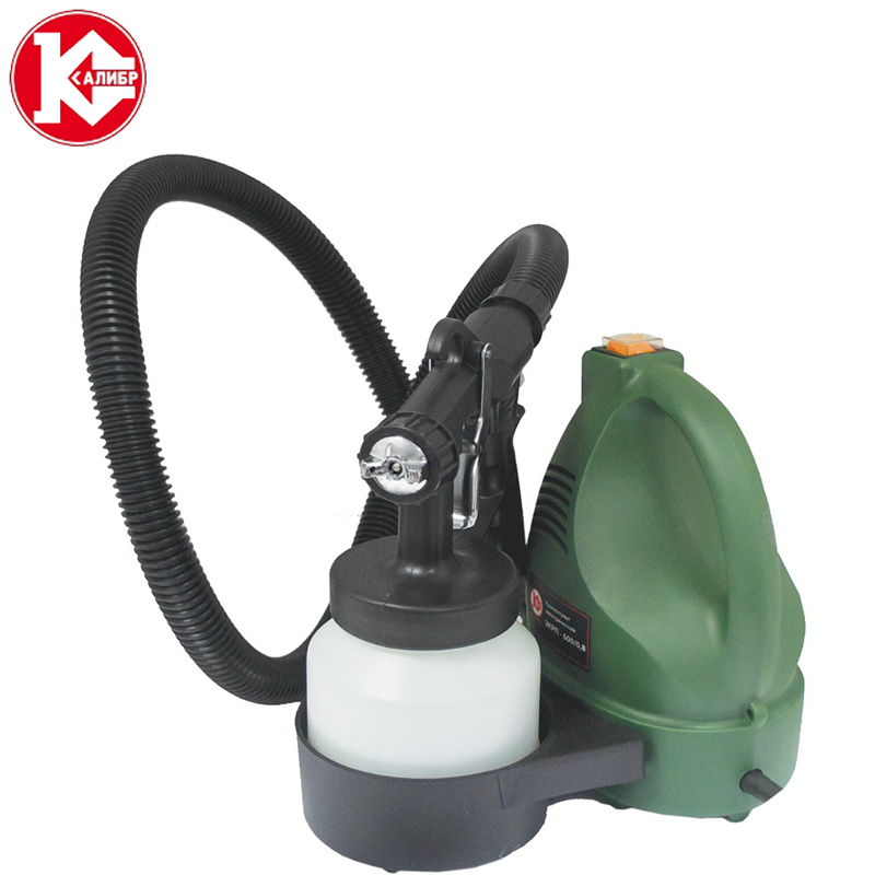 Kalibr EKRP-600/0.8 Electric Paint Sprayer Household Painting Spray Gun Kit Power Tools kalibr ekrp 350 2 6m electric spray gun latex paint airbrush paint spray gun