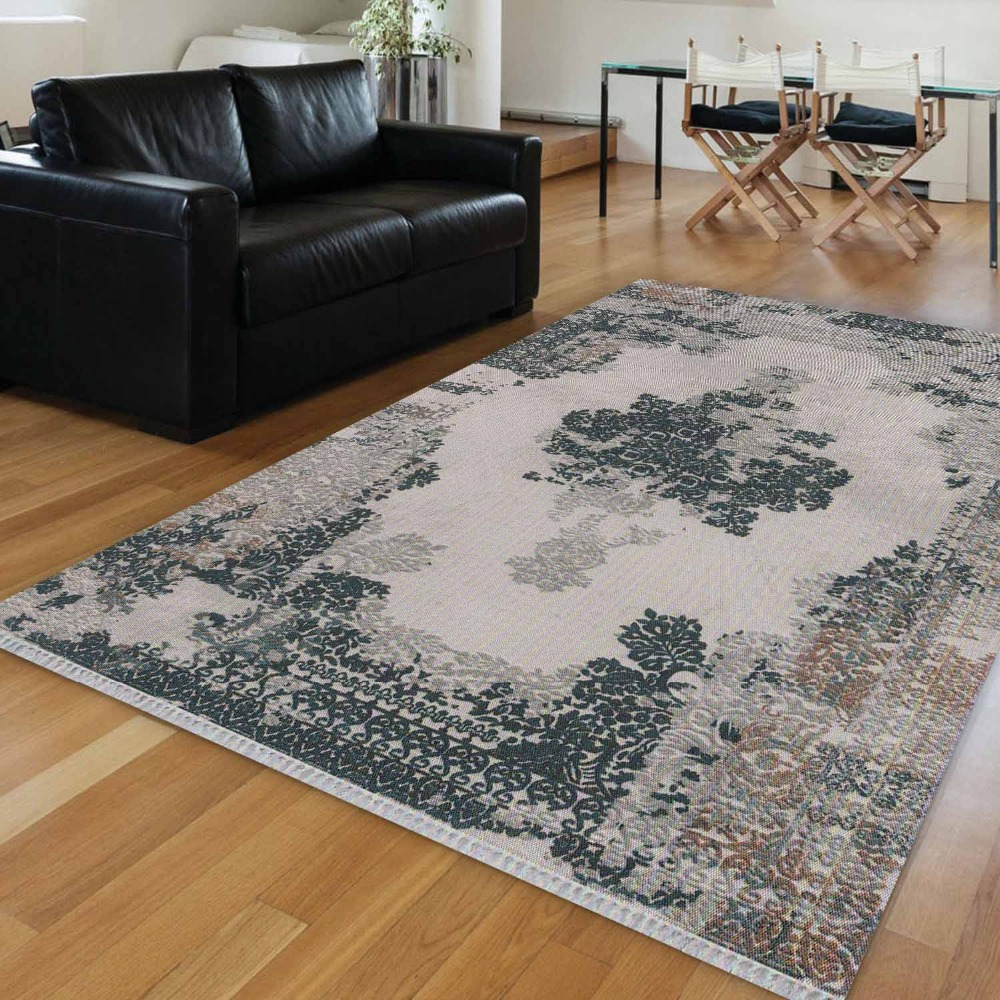 Else Gray Ottoman Turkish Ethnic Vintage Persian 3d Print Anti Slip Kilim Washable Decorative Kilim Area Rug Bohemian Carpet