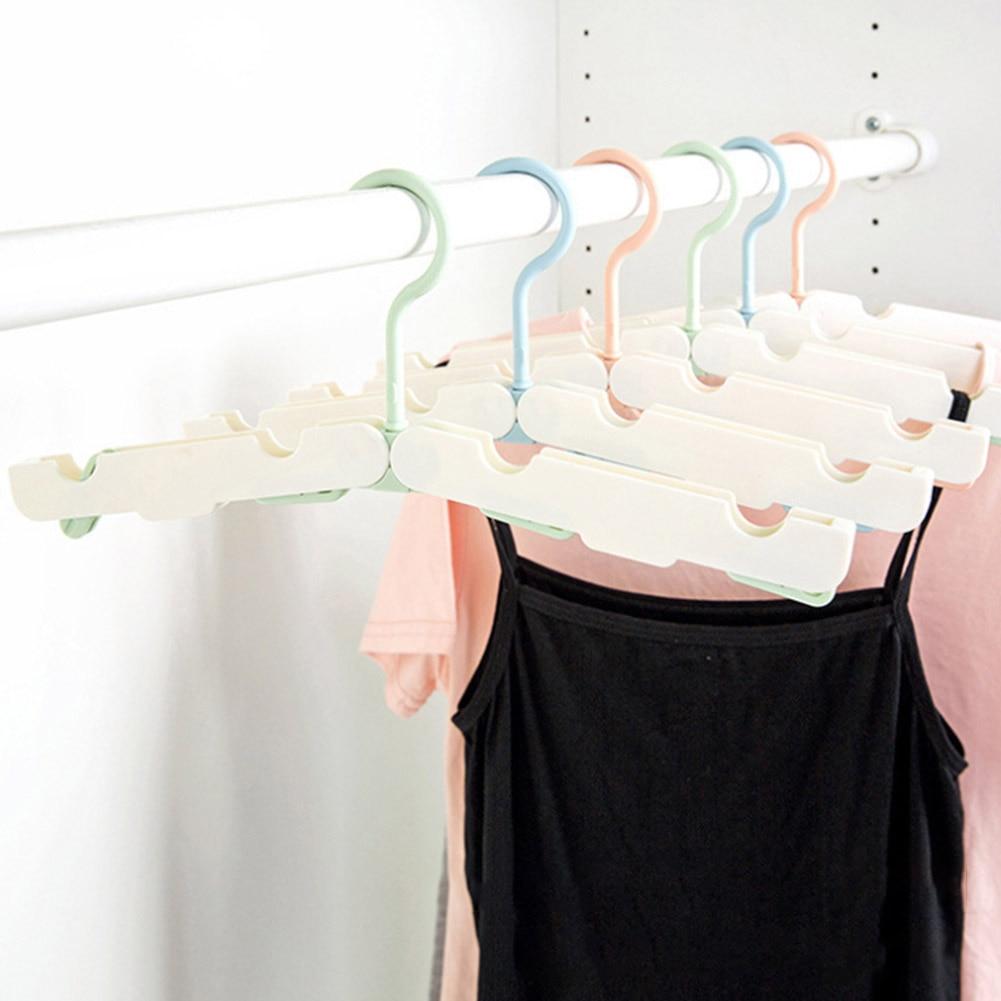 1PCS Travel folding plastic hangers garment rack portable outdoor multi-function clothes hangers for sale 3 colors