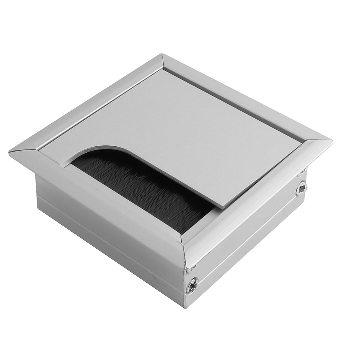 uxcell color pc computer metal square brushes desk cable grommets wire hole cover silver tone silver
