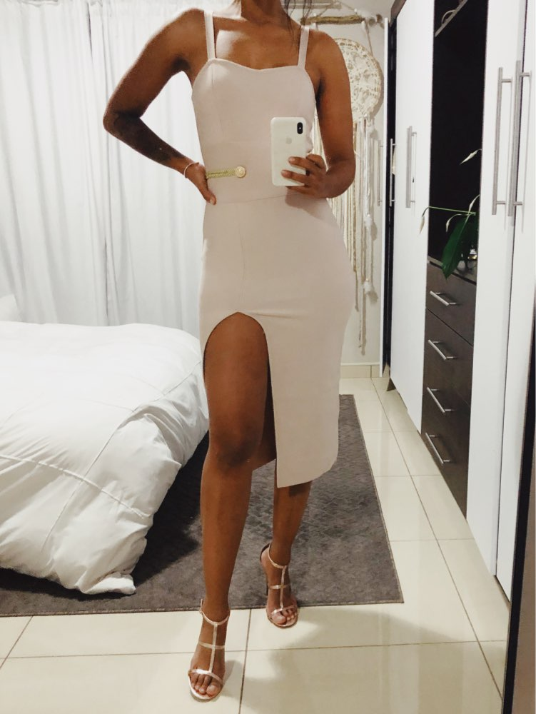 Ummer Bandage Dress Women Elegant Celebrity Evening Party Dress Vestido Sexy Spaghetti Strap Deep V Club Dresses photo review