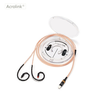 Acrolink IM50 DIY Earphone Pcocc Audio Cable Repair Replacement Headphone with 16 cores knitting