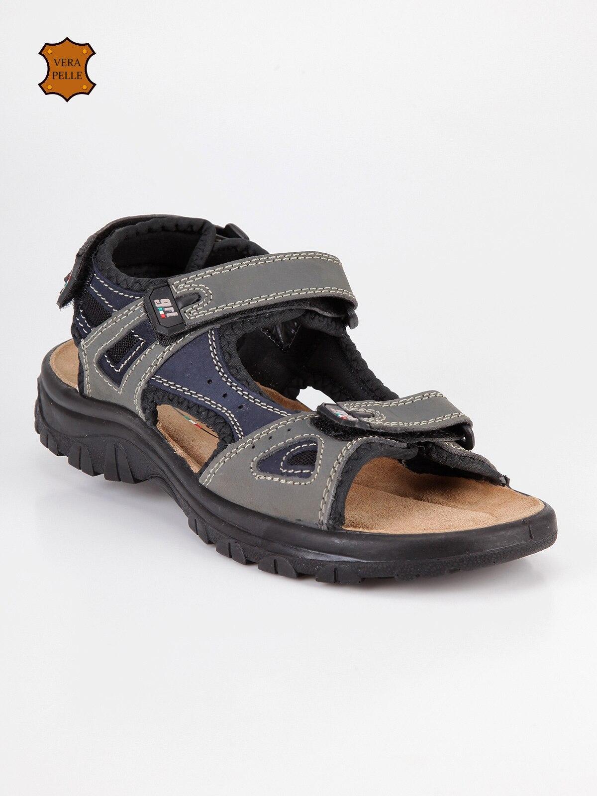 Man's cosy Velcro summer sandal soft beach shoes