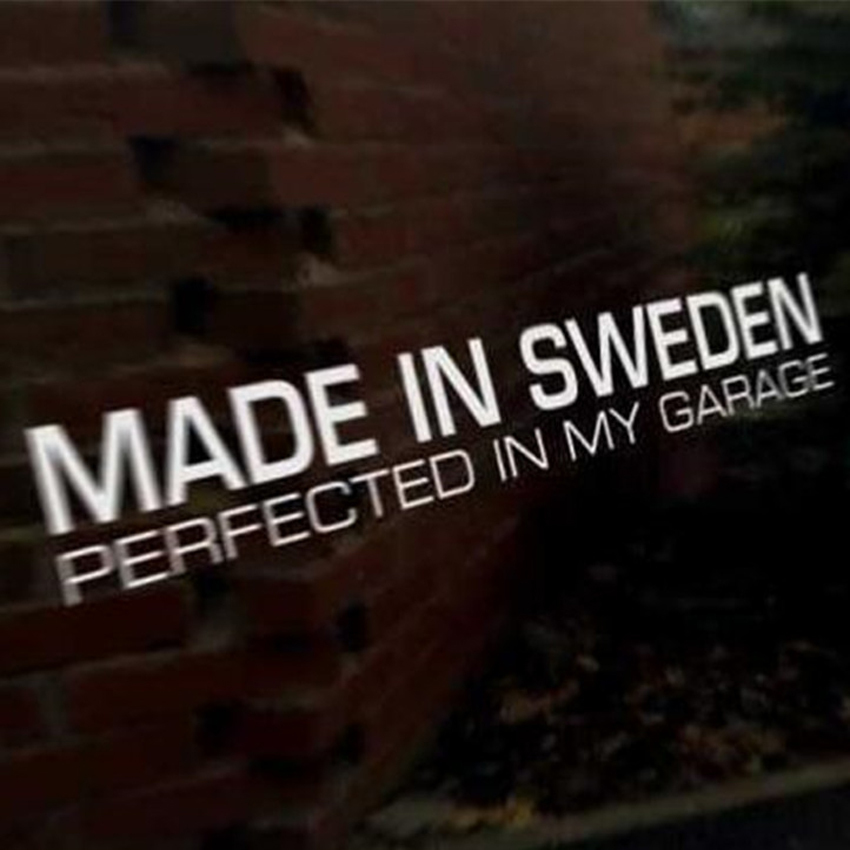 30x8cm Made in Sweden perfect in garage Car Stickers PVC Decal <font><b>Styling</b></font> For <font><b>Volvo</b></font> R Design C70 C30 V70 V60 <font><b>V50</b></font> V40 S40 S60 XC90 image