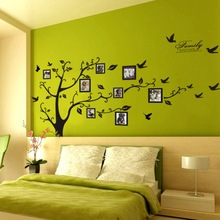 sale 200*250Cm/79*99in Black 3D DIY Photo Tree PVC Wall Decals/Adhesive Family Wall Stickers Mural Art Home Decor