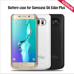 4200 mah For samsung S6 edge plus Battery Case Smart PC ABS Phone Battery Cover Smart Power Bank For s6 Edge Plus Charger Case