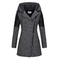 Женское зимнее пальто с капюшоном Осенняя тонкая верхняя одежда на молнии Весенняя модная Лоскутная черная женская теплая ветрозащитная в...