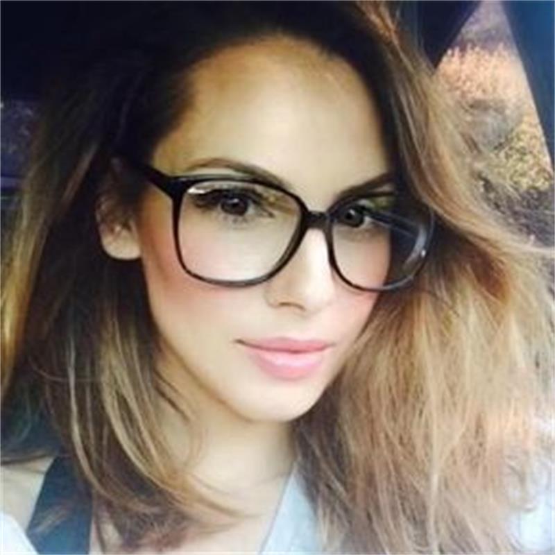 Retro gözlük şeffaf kare optik gözlük çerçeveleri kadınlar marka tasarımcısı açık moda sahte gözlük büyük çerçeveler gözlük