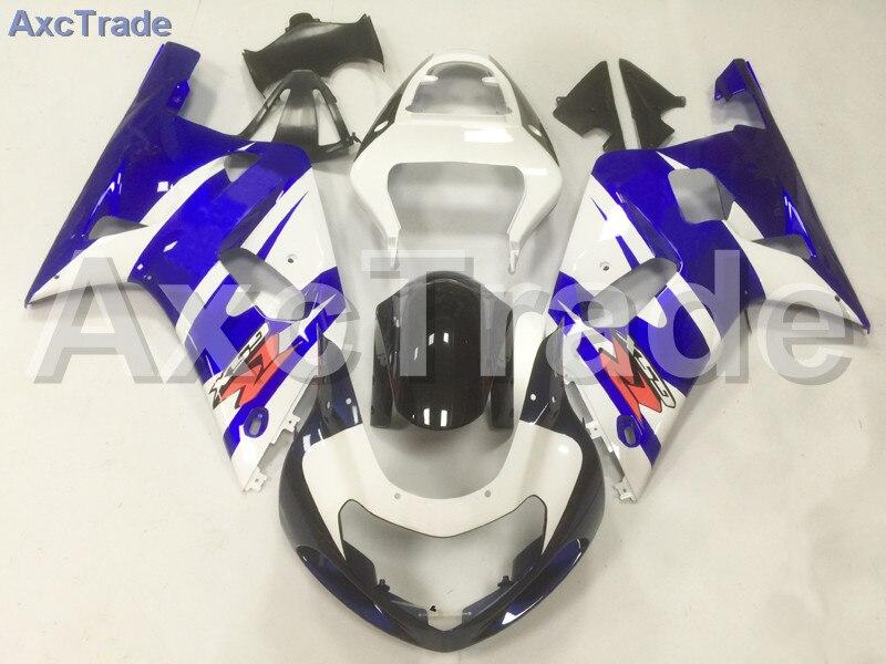 Carenagens da motocicleta Kit Para Suzuki GSX-R GSXR 600 750 GSXR600 GSXR750 2001-2003 K1 Injeção ABS Fairing Carroçaria Kit Azul A10