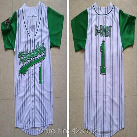 ... Stitched Warren G-Baby Jarius Evans 1 Kekambas Hardball Baseball Jersey  G Baby Movie new ... c3c265e9b