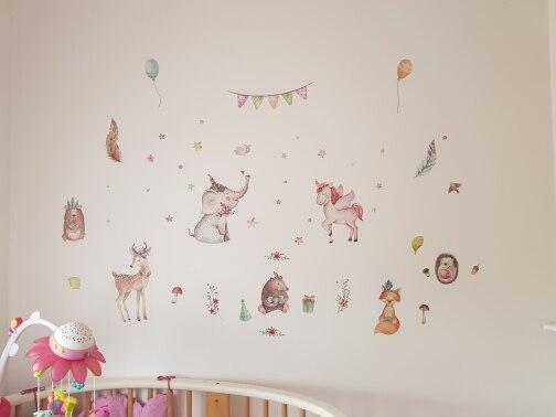 Cute Unicorn Flamingo Wall Stickers photo review