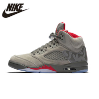 NIKE Air Jordan 5 Retro AJ5 Camouflage Mens Basketball Shoes Breathable Height Increasing Suede Sneakers For Men Shoes