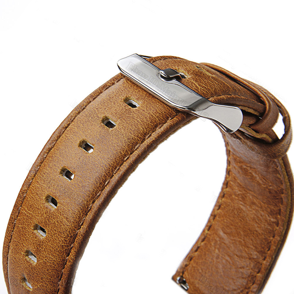Retro Quick Release Genuine Leather Watch Band Wrist Strap for Samsung S3 france genuine leather watchband for samsung gear s3 classic frontier r760 770 double color watch band quick release wrist strap