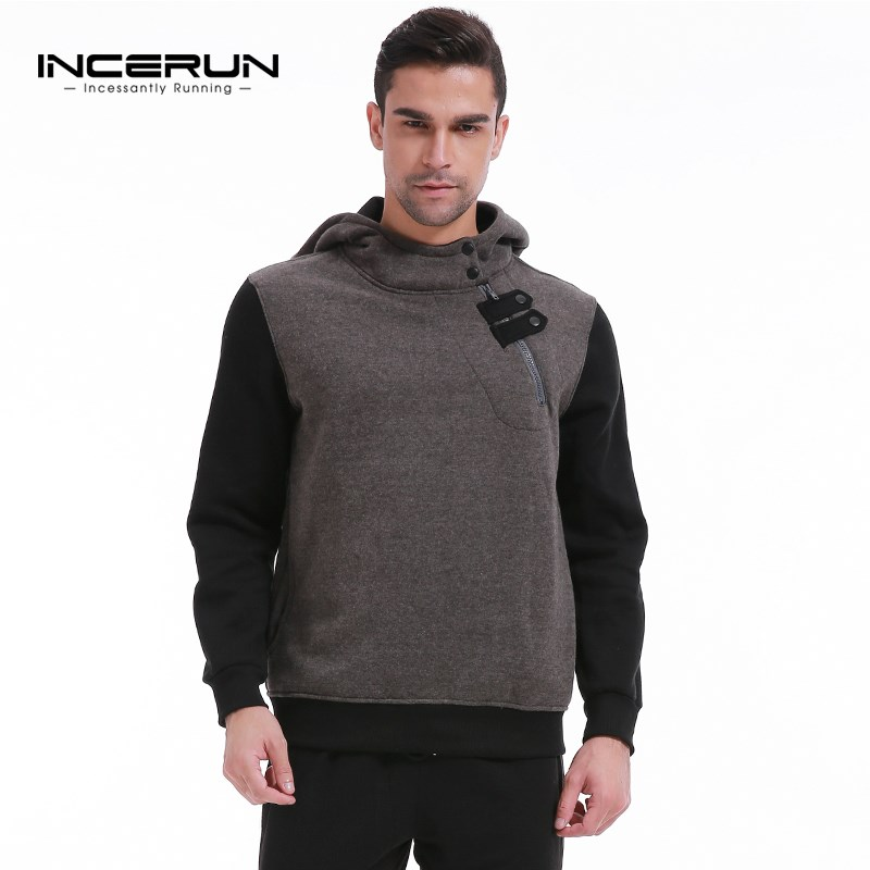 2018 Brand New Fashion Men Velvet Sportswear Casual Splice Men Hoodies Pullover Hip Hop Mens Tracksuit Sweatshirts Clothing 3XL