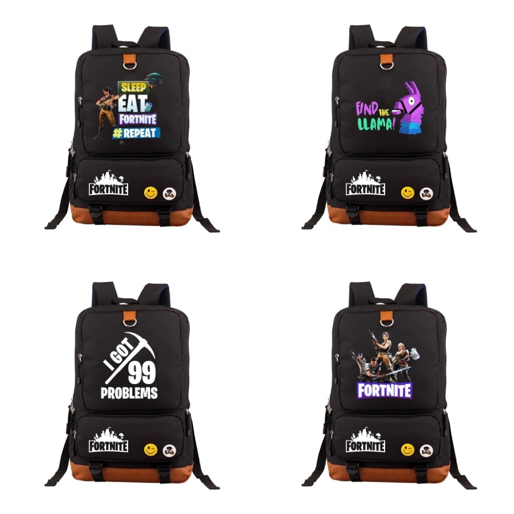 2018 PS4 Game Fortnite Battle Royale school bag backpack Daily packsack student school b ...