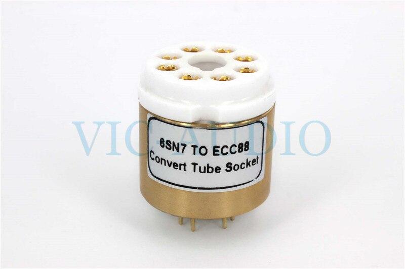 1 pièce 6SN7 À E88CC ECC88 6922 6DJ8 Tube Électronique Prise Audio Vacuum Tube Adaptateur Socket Converter Livraison Gratuite
