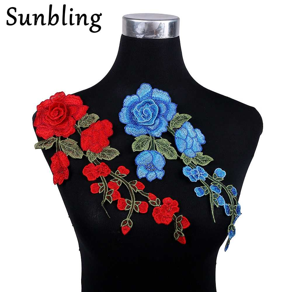 Sunbling 3D Ren Hoa Vá May-Trên Nhưng Vật Dính Liền Tăng Hoa Các Bản Vá Lỗi cho Đám Cưới Ăn Mặc Quần Áo Đính Thêu Handmade TỰ LÀM