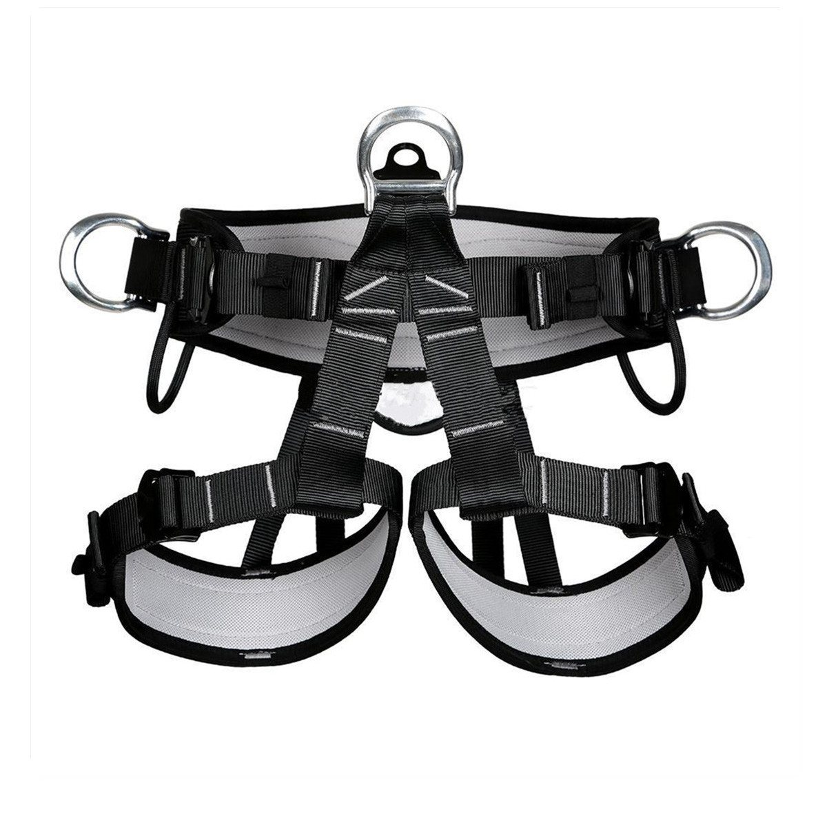 Outdoor Climbing Harness Seat Belt Safety Rappelling belt Downhill Rappel mountaineering Belts Adjustable Climb Rescue Equipment hot sale safety body harness outdoor mountaineering rock climbing harness protect waist seat belt outside multi tools