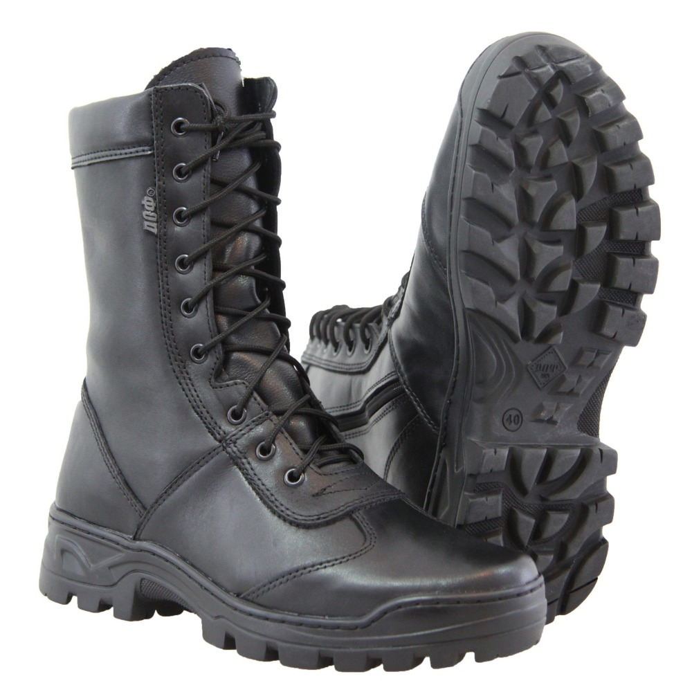 tactic boots high quality genuine leather and fur winter man shoes boots for sport hiking army travel running 5023 / 11 ZA