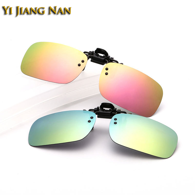 Yi Jiang Nan Brand Rimless Sunglasses Clips Mirror Lenses Coated UV 400 Sun Glasses Clip on Prescription Frame 3 Different Size in Men 39 s Sunglasses from Apparel Accessories