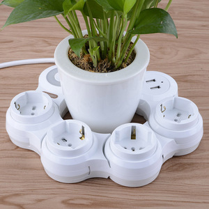 Image 4 - Extension Lead with USB 4 Gang Outlets 2 USB Ports (5V/2.1A) Flexible Rotary Socket Surge Protector Extension Cable 1.8M 3M Cord