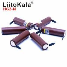 Liitokala hg2 bateria de 18650 3000mah, 1-20 peças, descarga de 3.6v, 20a, descarga de alta potência dedicada, imperdível diy nicke,