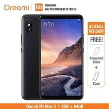 Küresel Sürüm Xiao mi mi max 3 64 GB ROM 4 GB RAM (marka Yeni Ve mühürlü) mi max3