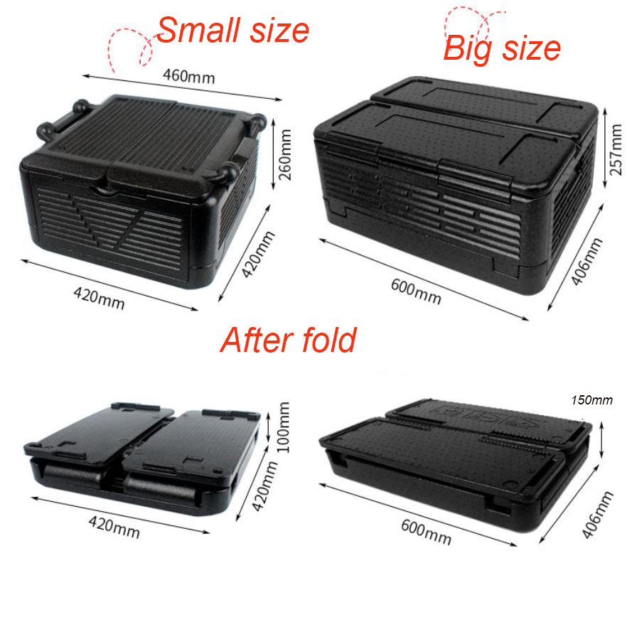 24L/60L Foldable Portable Outdoor Cool Box Car Refrigerator Auto Fridge Drink Food Cooler Warmer Box For Car Outdoor Camping