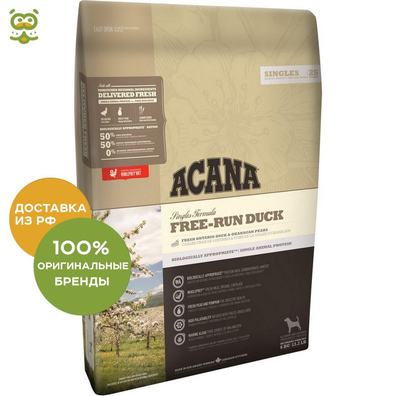 Фото - Dog food Acana Dog Free-Run Duck for puppies and adult dogs, Duck, 340 g 5pcs em78p156elpj g dip18 em78p156elpj dip em78p156 new and original ic free shipping