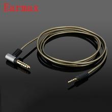 Earmax 4.4mm שדרוג אוזניות כבל HIFI מאוזן כבל אודיו עבור Sennheise מומנטום OFC כסף ציפוי חוט Core 120cm