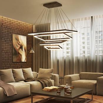 Rechteck Led Kronleuchter Für Wohnzimmer Schlafzimmer Treppen Home Deco  Gebürstet Kaffee Finish Moderne Led Hängen Kronleuchter
