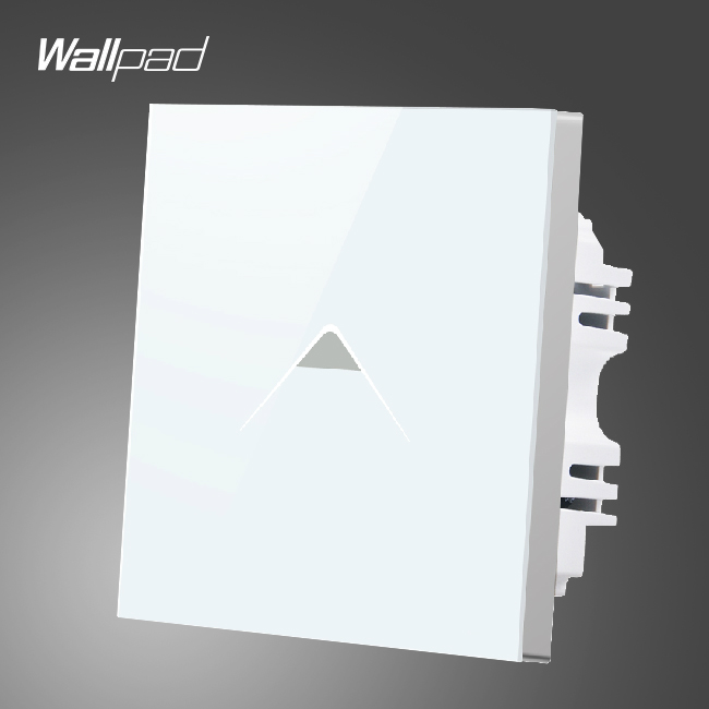Hotel Wallpad Switch 110-250V UK White Crystal Glass Touch Switches 1 gang 2 way,Free Shipping wallpad 13a uk socket luxury hotel black crystal glass 86 size 13a uk standard wall socket free shipping