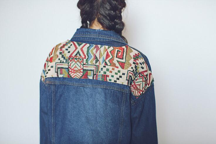 Vintage nationalen wind Bestickt Patch jeansjacke Lose kurze design jean Jacke mantel s466