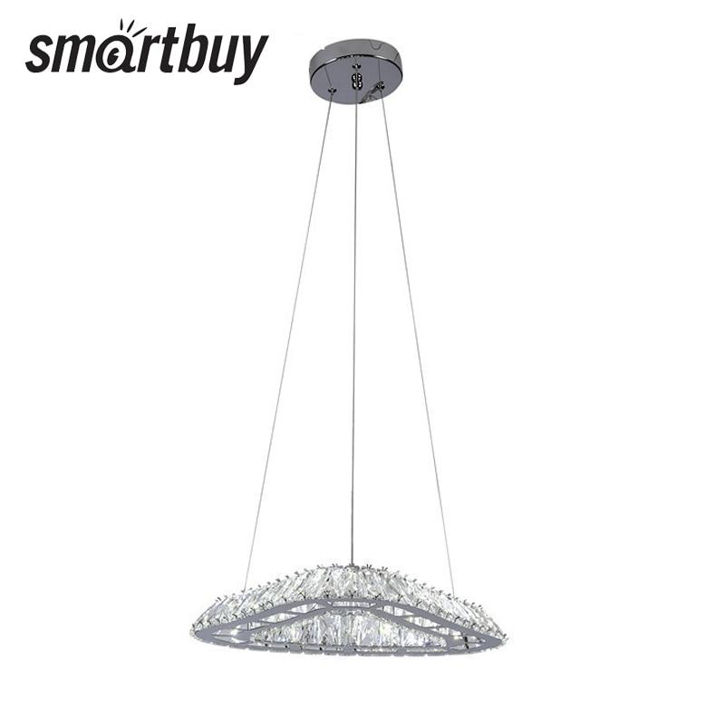 Chandelier SmartBuy Crystal 163, LED light, LED ceiling, White, 23, 4000 K, SBL-CR-23W-163-4K smartbuy hp 50w 4000 e27 sbl hp 50 4k e27