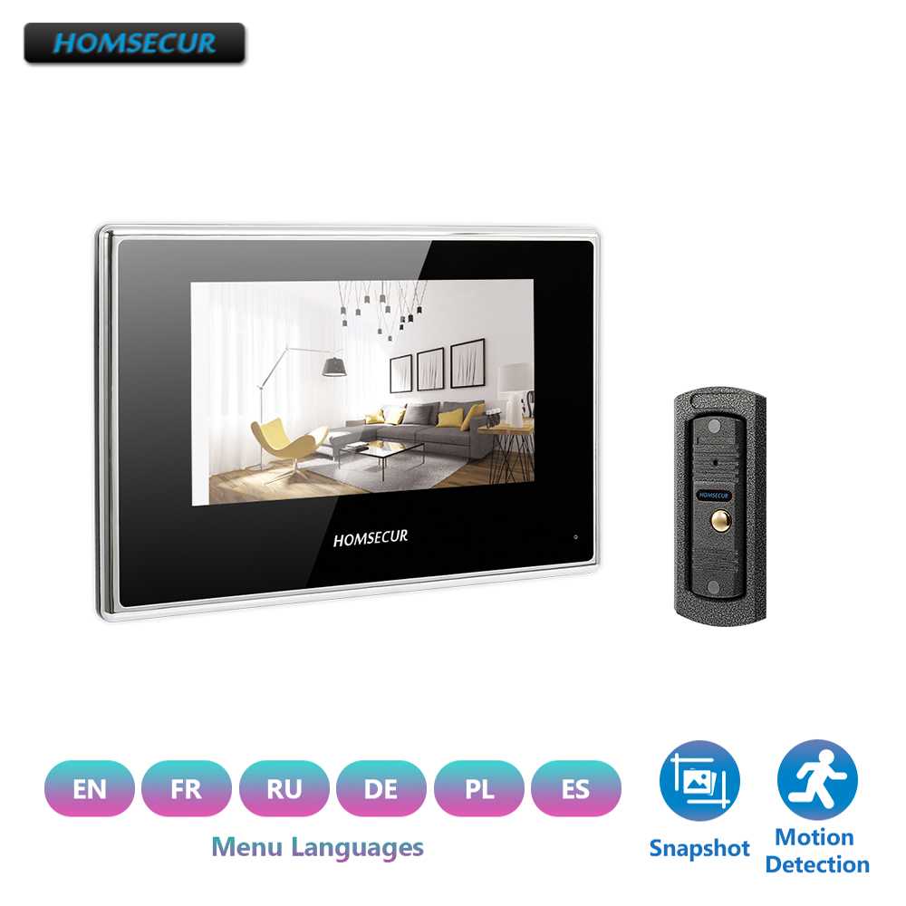 """HOMSECUR 7"""" Wired Video&Audio Smart Doorbell Hands-free Home Intercom+for Security BC011-S+BM718-B"""