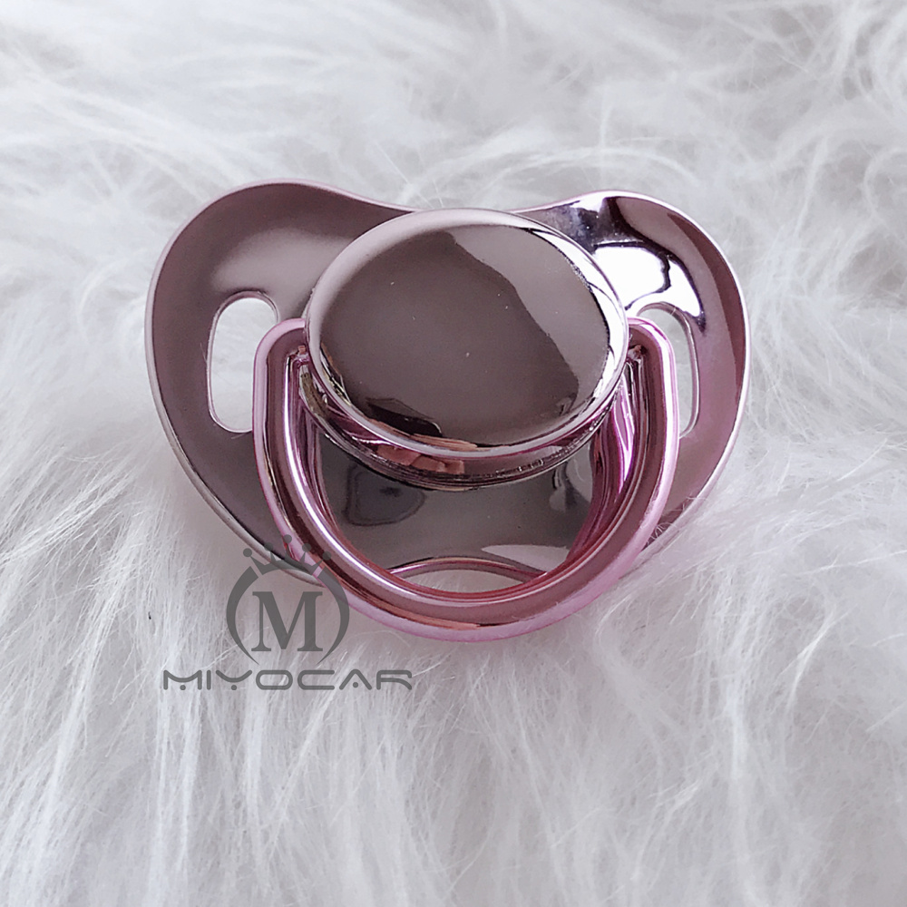 MIYOCAR Unique Design 4 Gold Colors 3 Size Choose Bling Pacifiers SGS Pass Food Grade BPA Free Pacifier Dummy P11
