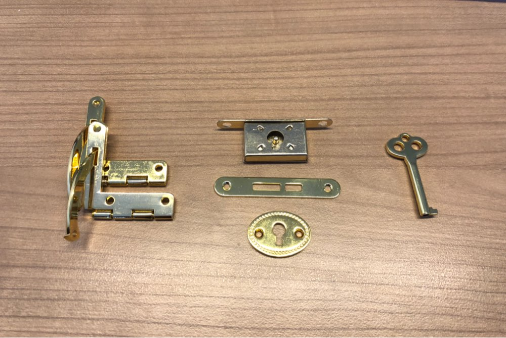 Antique Bronze Cabinet Hinges Furniture Accessories Small Wooden Gift Box BH
