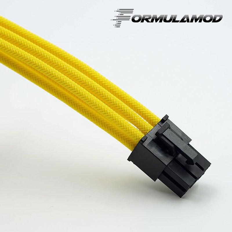 FormulaMod Fm-PCI6P-A, PCI-E 6Pin GPU удлинитель питания, материнская плата 18AWG 6Pin многоцветные соответствующие кабели расширения - Цвет лезвия: Yellow