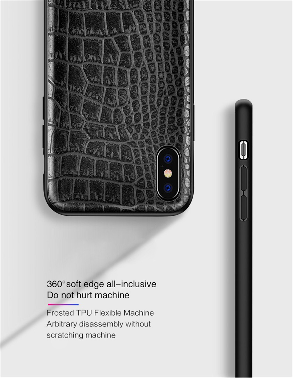 Retro Vintage Phone Bag Case For Iphone X 6 6s 7 7s 8 Plus Crocodile Snake Skin Pattern Soft Protective Cover Shell For iphoneX (8)