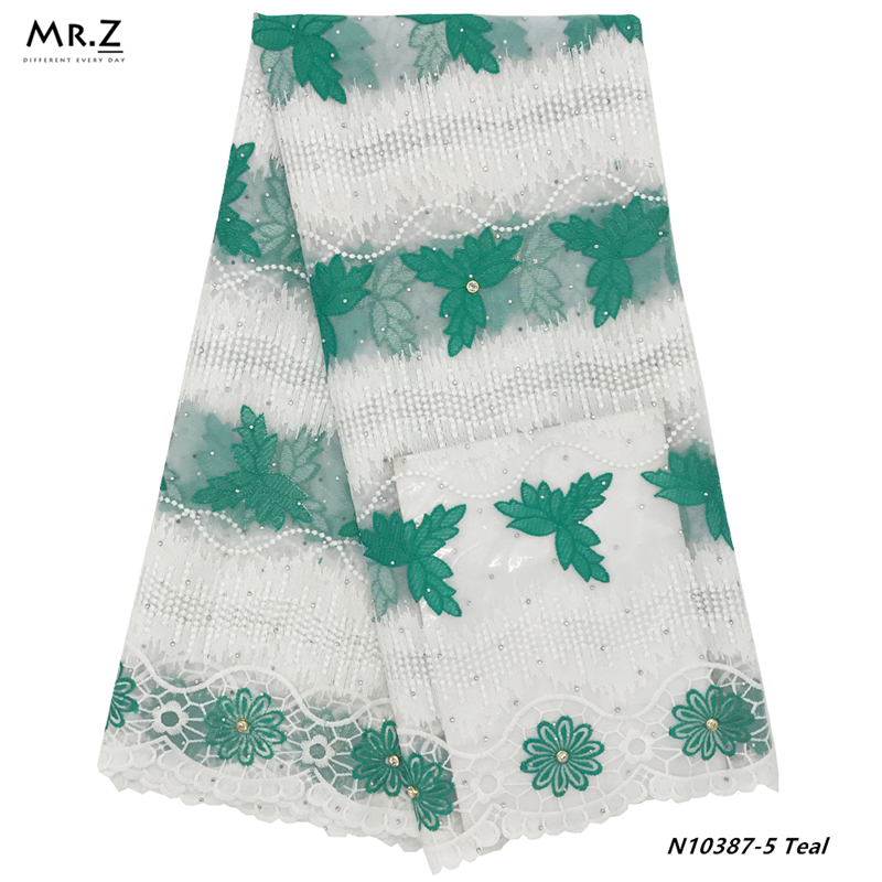 per metre /'Lyonnaise' dress fabric Embroidered Net Lace